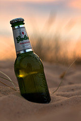 Grolsch [*Explored*] (Herr Olsen) Tags: holiday beach netherlands beer strand bottle sand 5 bier flasche grolsch egmond 025l leckergrolsch