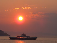 Sunset and Ferry from Thassos island,Greece (Alexanyan) Tags: sunset red sea sun ferry port island greek aegean hellas powershot greece grecia northern grece ferryboat ellas ellada thassos hellenic aneth thasos thrace  limani nisia limenas keramoti quotcanon anawesomeshot impressedbeauty griechland   canonpowershotsx10is