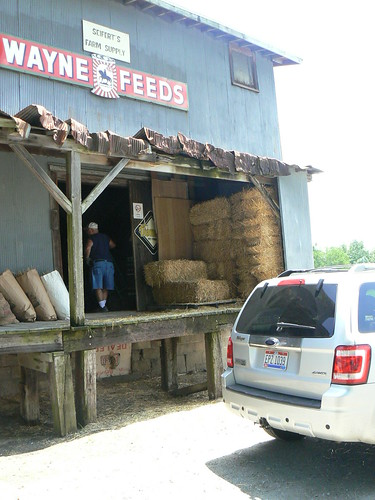 Loading up at Seifert's Farm Supply