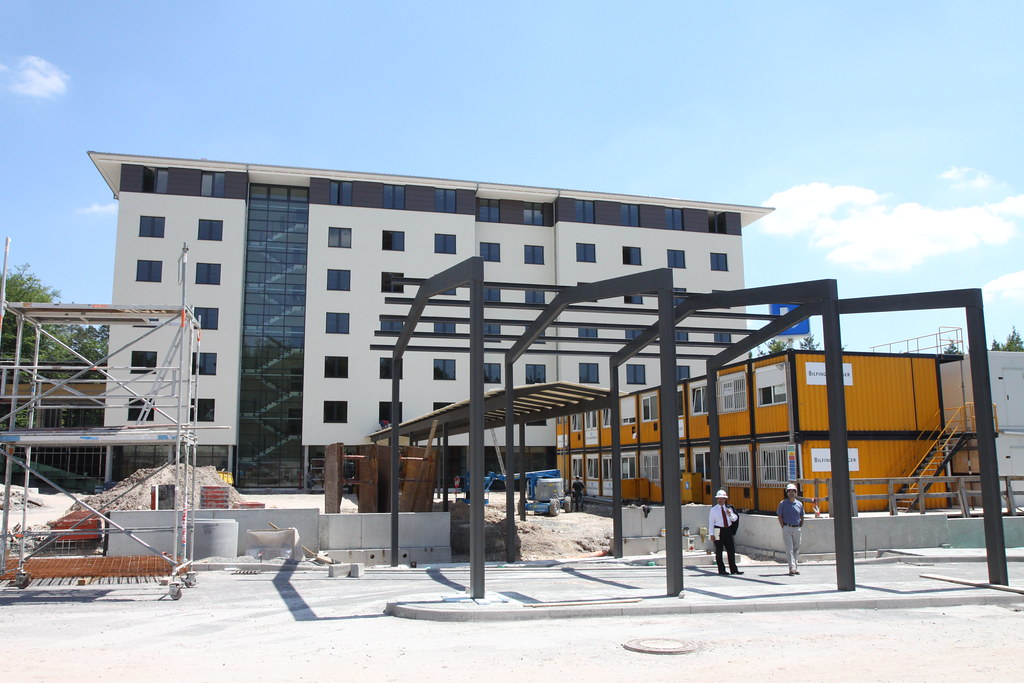 Construction continues on new Army hotel in Stuttgart