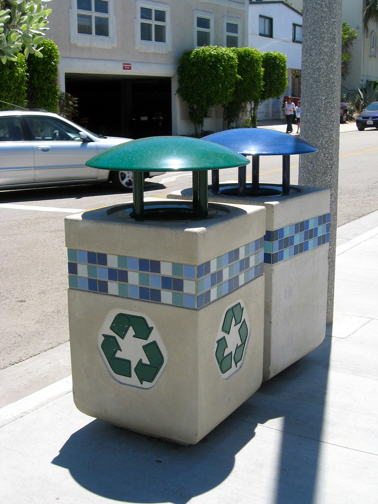 recycle trash bins!