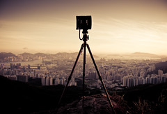 (songallery) Tags: city sunset sky geotagged hongkong nikon cityscape tripod equipment explore 香港 toned kowloon frontpage p45 phaseone digitalback explored 飛鵝山 d3x afs2470mmf28ged cambowideds