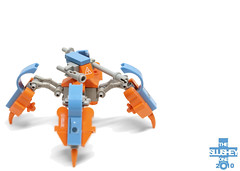 electro turret (The Slushey One) Tags: blue orange one lego slush electricity electro slushy turret slushee slushey