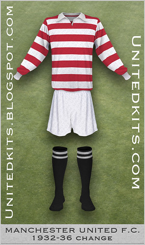 Manchester United 1932-1936 Change kit