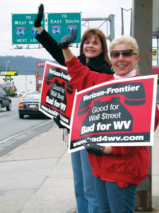 W.Va CWAers take a stand on Verizon-Frontier deal.