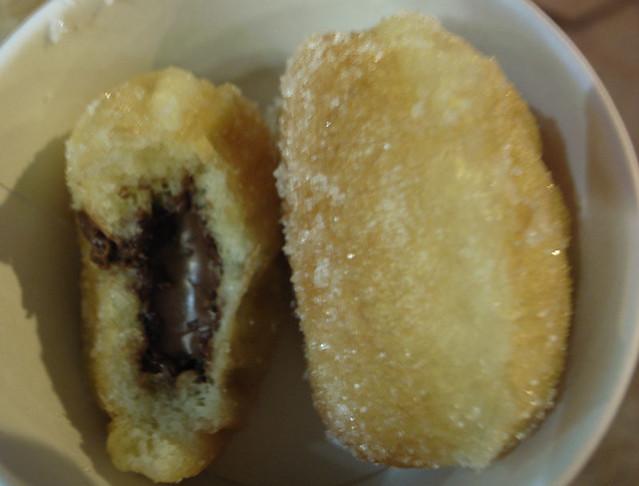 Warm brioche donut holes