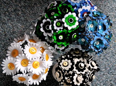 Felt and Button Bouquets