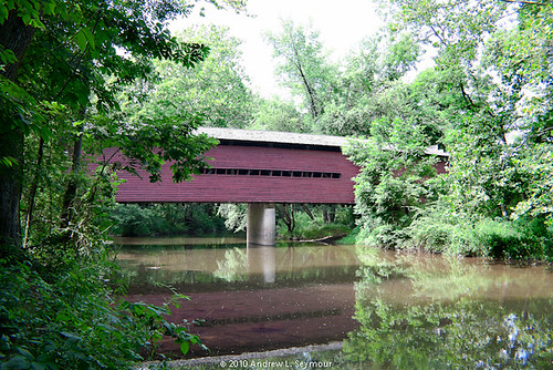 Sheeder-Hall Covered Bridge (Exterior Long View Up Creek) 002