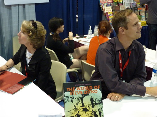 Wendy Everett (daughter of Bill Everett) & Blake Bell - Fantagraphics at Comic-Con