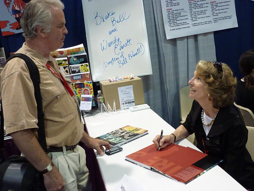 Wendy Everett (daughter of Bill Everett) - Fantagraphics at Comic-Con