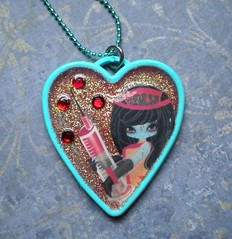 Junko Mizuno (Hazel) Tags: red glitter diy necklace blood handmade vampire zombie stickers emo kitsch scene needle gore kawaii horror nurse resin puffy junko mizuno ditsy kawaiijewels