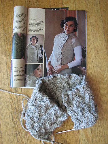 Beginning of Rosamund's Cardigan