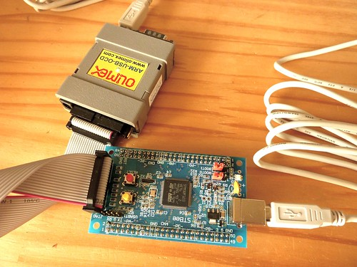 ARM Cortex-M3(STM32F103) + Olimex ARM-USB-OCD