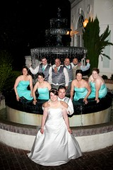1142 (Rawbert A. Wagner) Tags: wedding party woman wet water fountain female groom bride dress ceremony marriage bridesmaids bridesmaid waters sacramento wagner vizcaya soaked vicaya trashthedress accentsbysage