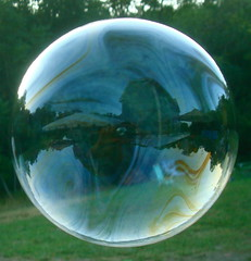 the boy in the bubble (redjoe) Tags: family trees party reflection love grass rural outside virginia backyard afternoon floating reception together va bubble winchester reflexions redjoe thebestofday gnneniyisi joehorvath