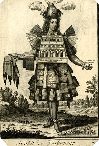 010-Vestimenta de perfumista-Les Costumes Grotesques 1695-N. Larmessin-© The Trustees of the British Museum