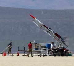 Raising the Launch Rail (jurvetson) Tags: beagle project sony rail intel rocket iv far toma mavericks astrobiology clotho biosampling krmnline pmotors