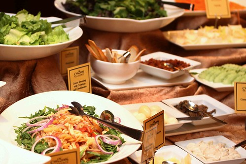 Organic salads and appetizers