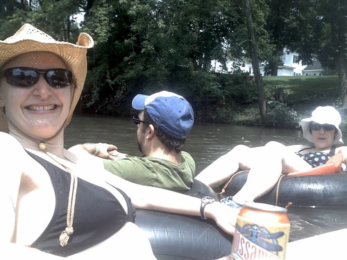 Tubing down the Sugar River, WI