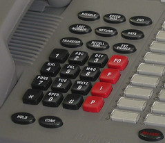 Raytheon IST-2 Secure Telephone – Dial Pad Closeup