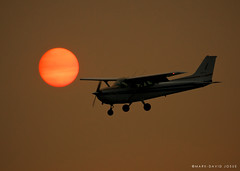 Flyby (mj.foto) Tags: seattle sunset summer sun silhouette creek plane airplane golden nikon air landing cedar tc boeing nikkor renton seafair f28 prop filed aero flyby 70200mm 14x d300s markjosue