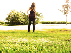 Alone. (loveiswritten) Tags: girl grass alone converse