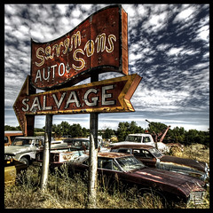 salvage of the Seven Sons (bob merco) Tags: sign rural junk rust salvage hdr ariea supermerc81 bobmerco hdrmax bobmercogliano