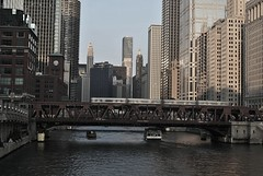 Old Chicago (Christopher.F Photography) Tags: city bridge urban chicago river boats nikon cityscape theel chicagoriver d3000
