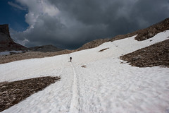 Snow in July (OneEighteen) Tags: italy snow mountains trekking hiking climbing dolomites lagazuoi altavia1