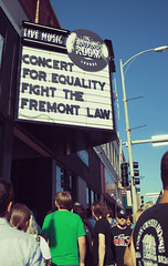 Concert For Equality (itsjessie) Tags: show street music sign fight concert eyes nebraska bright live protest connor fremont omaha law boycott desaparecidos oberst concertforequality