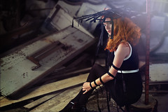 Dark redhead (Sébastien Larreur) Tags: light abandoned church girl hat dark bench hair chaos redhead brandt desolate tigh faye sébastien ribon larreur tetsunube
