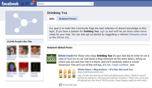 Drinking Tea page on Facebook