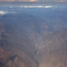 Mountains from the window of airplane, from Bolivia to Peru