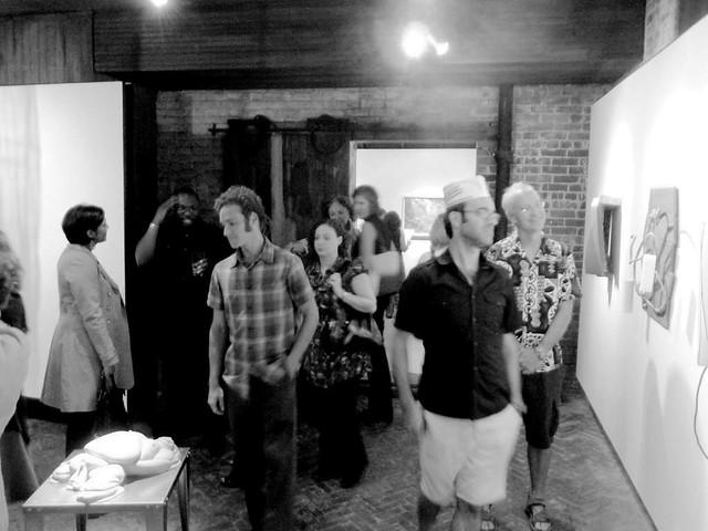 P1030281-2010-08-06-Whitespace-Gallery-Krispy-Kreme-Hat-BW