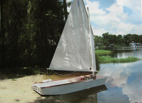 Goose sailboat - cheap DIY home built boat.