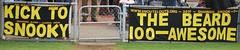 Ty Allen & Shannon Snook Fence Banner (FlashGordon Photography) Tags: banner ty tigers glenelg bloods sanfl glenelgfootballclub westadelaide allenshannon snookfence