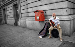 Papy Blues - 2 (Ben Heine) Tags: street camera brussels wallpaper portrait copyright music blur art closeup architecture composition mouth print lens beard photography lights freedom moving eyes focus artist dof belgium emotion pov expression lumire modernart space air performance arts creative blues voice oldman mature age libert soul micro statement conceptual breathe author society tones songs speak connection struggle rockandroll barbe musique survive chanteur cs4 vrijheid youtube me streetsinger interprte selectivecolors livingmonument benheine anawesomeshot flickrunited samsungnx10 infotheartisterycom papyblues