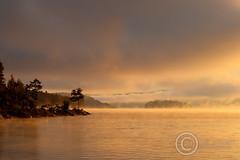 Idyllic Bomoseen (J. G. Coleman Photography) Tags: usa mist lake mountains water fog forest sunrise vermont fairhaven photocontesttnc10