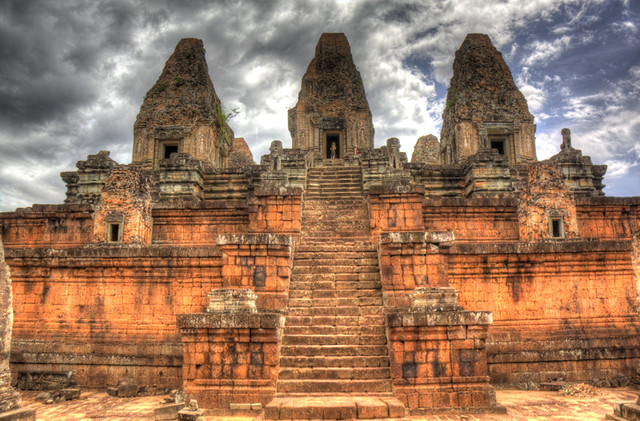 Angkor Wat Three Temple HDR