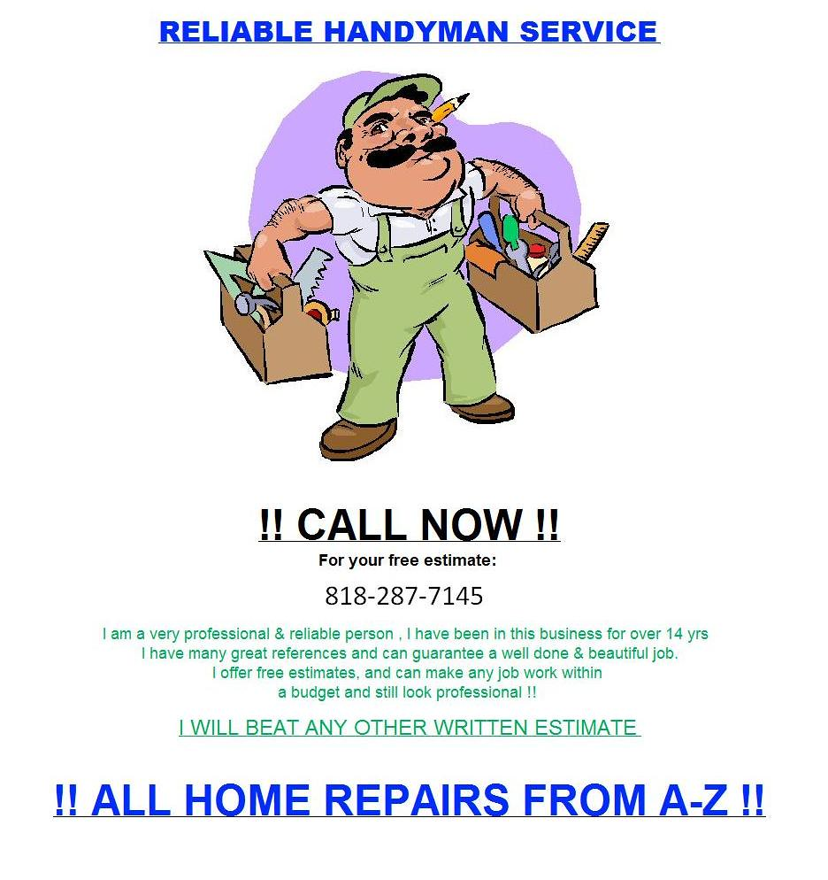 HandyMan Serivce Repair Los Angeles