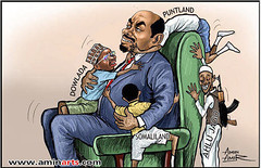 Ethiopian President Meles Zenawi and his lovel...