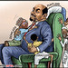 Ethiopian President Meles Zenawi and his lovely Somalia leaders President Sharif Ahmed (on his chest), Riyaale, Faroole