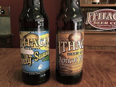 Ithaca Brewery: Partly Sunny and Apricot Wheat