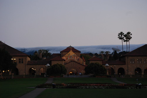 Cloud flowing foward Stanford
