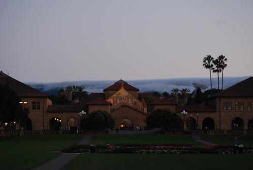 Cloud flowing foward Stanford