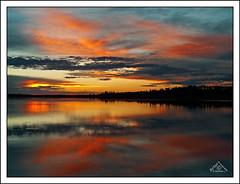 Sunset at Astotin Lake in Elk Island National Park (2) (Artvet) Tags: reflexions