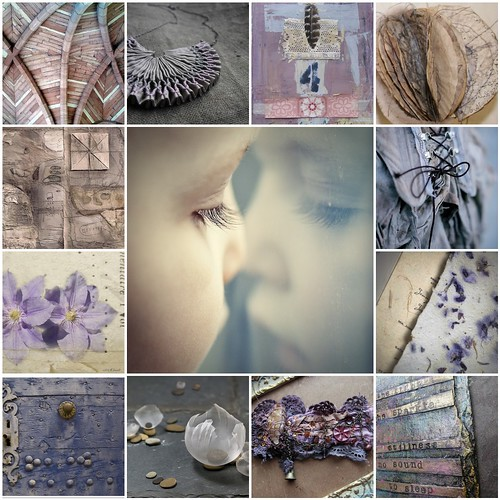 Lila , grijs , blauw . All this beautiful images are from Flickr friends