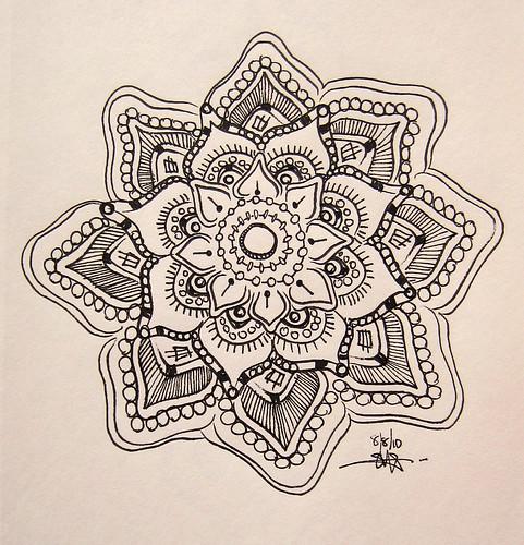 Mandala Ink Doodle