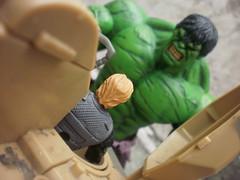 Leave Hulk alone (THE AMAZING KIKEMAN) Tags: man roth photography tim comic dragon action bruce banner spiderman books joe abomination beast hulk marvel figures hercules emil gi avengers deadpool blonsky