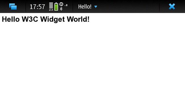 Hello World W3C Widget